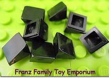 New LEGO Mini Slopes Lot of 8 Black 1x1x2/3 Roof Finishing Brick Piece Parts