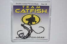 team catfish hooks real gear double action circle hook size 1/0 bait 6 per