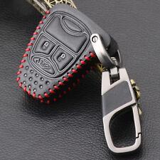 Cubierta de cuero de Coche Clave Fob Llavero Protector para 2011-2012 Jeep Wrangler