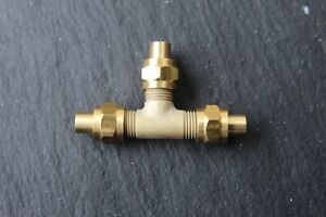 """Live Steam Tee. 1/4"""" x 40. to suit 1/8"""" Pipe *NEW*"""