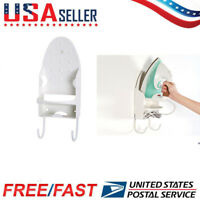 Wall Mounted Ironing Board Holder Hanger Clothing Iron Rest Storage Rack w/Screw