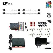 "Cyron LED MULTICOLOR RGB TV Accent Cabinet Light Kit Lighting, 4 x 12"" LED Bars"