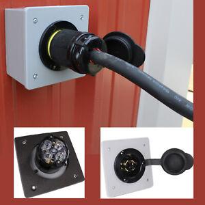 Generator Power Inlet Panel for 2-Gang FS/FD Box PB30 L14-30 L14-20 L5-30 L6-30