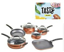 Tasty 11pc Non-Stick Reinforced Copper Aluminum Pots Pans Combo App Cookware Set