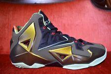 CLEAN Nike Air Lebron 11 XI Kings Pride Gold Green Size 14 Parachute OG ALL