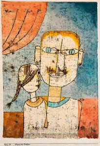 Adam and Little Eve by Paul Klee 1921 60cm x 41cm High Quality Art Print