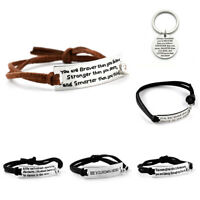 Inspirational Encouragement You Are Strong Own Hero Bracelet For Him Her