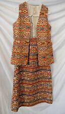 Vintage~John Meyer of Norwich~Lord Taylor~Size 12~Vest~Skirt~Tapestry~Bohemian