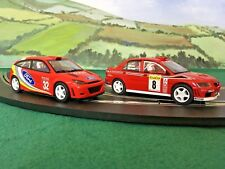2x SCALEXTRIC RALLY CAR FORD FOCUS MITSUBISHI LANCER SLOT CAR SPARE/REPAIR PS53