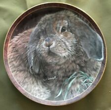 Bradford Exchange Bunny Tales Plate *Fuzzball* w Cert of Auth & Packaging #167A