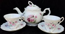 Crown Dorset Staffordshire Teapot & 2 Cups& Saucer Set