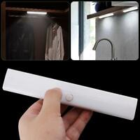 10 LED White PIR Body Motion Sensor Light Wardrobe Cabinet Closet Night Lamp Bar