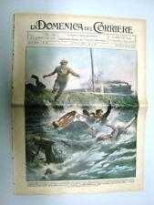 La Domenica del Corriere 13 Aprile 1930 Cesenatico Parigi Ventimiglia