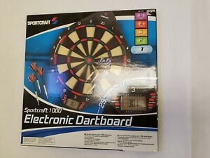 NWT Sportcraft 1000 Electronic Dartboard LCD Scoring up to 8 Players