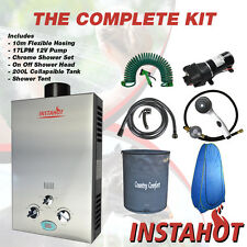 LPG GAS Water Heater COMPLETE KIT BOAT CAMP AQUA COMPANION 4WD Trailer Tent