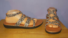 Gorgeous New FitFlop Strata Snake Print Leather Gladiator Sandals! Women's 10