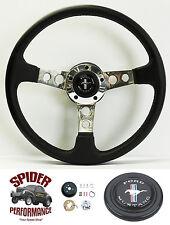 """1970-1973 Mustang steering wheel PONY 14"""" LEATHER steering wheel"""