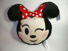 """New listing Disney Emoji """"Minnie Mouse"""" Winking Plush Pillow 9"""" New with tag"""