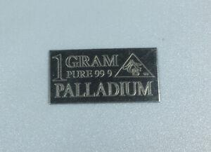 1 Gram Palladium Bar .999 Palladium Bar