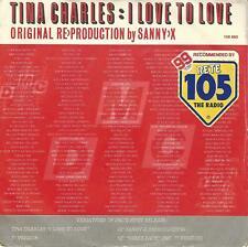 "TINA CHARLES-THE BIDDU ORCHESTRA  "" I LOVE TO LOVE / SUNBURN "" 7"" ITALY PRESS"