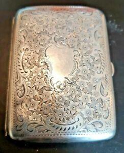 Silver cigarette Case by Walker & Hall 1909, 57 grams