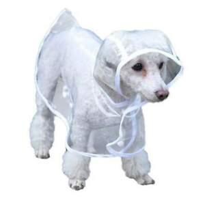 Pet raincoat waterproof vest jacket cover for dogs transparent pet raincover