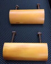 Fantastic Pair Of ART DECO Amber Butterscotch Phenolic Catalin Handles - Pair 2