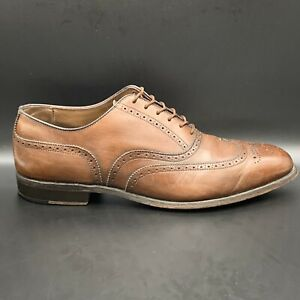 footjoy vintage Wing Tip Hand Crafted leather Wing Tip shoes 10 D