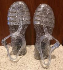 Gap Kids Clear All Over Glitter Jelly Sandals 12 Durable Comfortable Jelly Soles
