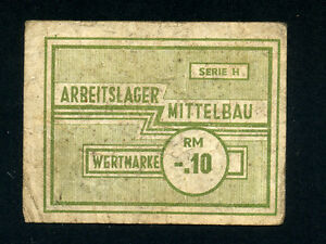 Germany/Mittelbau Camp: 0.10 RM,1943-5 * WWII * Rare *