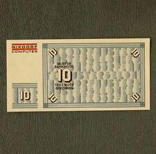 10 DM Muster Banknote Test Note Specimen money Nixdorf Computer 8864-Serie 1975
