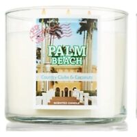 BATH & BODY WORKS PALM BEACH 3-WICK SCENTED CANDLE 14.5 oz NEW!