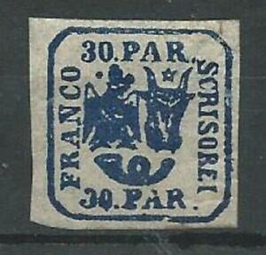 Moldo-Wallachia 1862 30p blue imperf SG33 MINT with gum hinged. (2023)