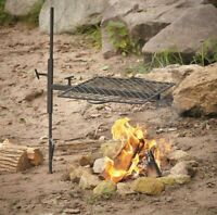 Outdoor Campfire Adjustable Swing Grill For Cooking Camping w/ Canvas Carry Bag