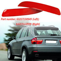 2x Rear Bumper Red Reflector Light Backup Stop Lamp For BMW X5 E70 63217158949
