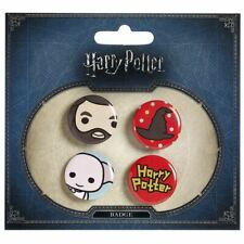 Harry Potter Chibi Button Pin Badges Set - Dobby Hagrid and Sorting Hat