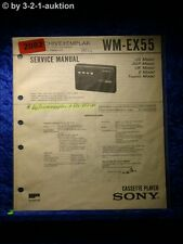 Sony Service Manual WM EX55 Cassette Player (#2082)
