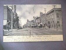 VINTAGE POSTCARD  MAIN ST, FOND DU LAC , WIS .  1907