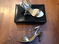 Salon Monaco Gold Metallic Formal Wedding Shoes Open Toe Pumps  Sz 7.5 NIB