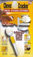 As Seen On TV Clever Cracker & Scrambler Egg White / Yolk Seperator EZ Breakfast