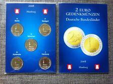 Pochette 2 Euro Commémo Allemagne 2008 A,D,F,J,G