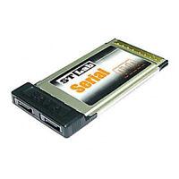 STLab C-171 2-Port Serial ATA SATA PCMCIA CardBus Card