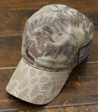 USMC United States Marine Corps - EGA Eagle Globe & Anchor Hat Kryptek Camo