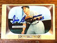 1955 Bowman #49 Jim Greengrass Hand Signed Auto Autographed Card Reds