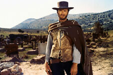 Clint Eastwood The Good, Bad and Ugly 24x36 Poster iconic pose in poncho cigar