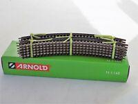 N Scale Arnold HN8005 10-Piece Curved Railway Track Radius 30 °- NIB