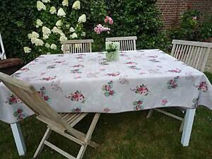 Tischdecke Provence 150x200 cm hellgrau aus Frankreich fleckabweisend bügelfrei