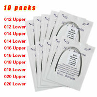 100PCS Dental Orthodontic Round Arch Wire Super Elastic NITI Ovoid Form Sizes UA