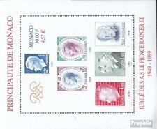 Monaco Blok 78 (compleet Kwestie) MNH 1999 Regency Prince Rainier III.