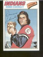 Dennis Eckersley of the Indianss on a 1977 Topps Rookiecard #525 EX/MT condition